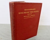 Antique Shakespeare Book - Shakespeare's History of King Henry The Eighth - 1899 - Illustrated - Historical Fiction