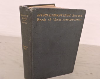 Antique Poetry Book - Second Book Of Verse by Eugene Field - 1903 - Children's Poetry