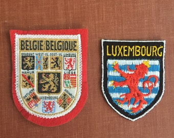 Luxembourg and Belgie patches *Free Shipping*