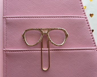 Sunglasses paperclip bookmark