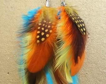 Custom feather earrings
