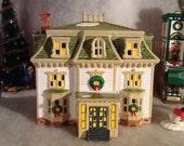 Dept. 56 Snow Village Maple Ridge Inn Vintage 1988 Christmas House