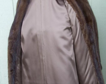 Beautiful Womens SOFT SHINY SUPPLE Evans Mahogany Mink Stroller Size Medium