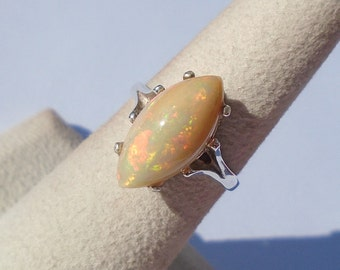 Ethiopian Opal Sterling Silver Ring Size 5.75