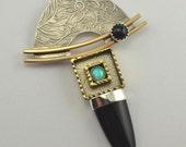 Metalsmith Pendant - Black Onyx Pendant - Metal Artisan Jewelry