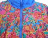 Bright colorful Shell shock wind breaker jacket