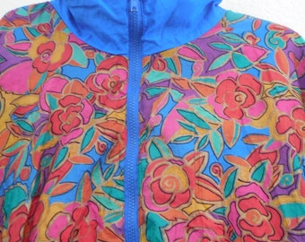 Bright colorful Shell shock wind breaker jacket