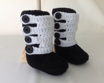 Motocross Baby Boots - Infant Motocross - Dirt Bike Baby - MX Boots - Racing Baby - Dirt Bike Gear - Baby Shower Gift - Crochet - ATV Baby
