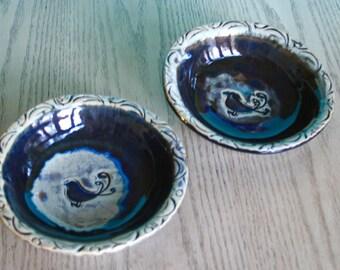 High Fire Stoneware Ceramic Bird Bowl