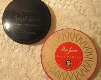 Vintage Don Juan  and Pond's Angel Touch Face Powder Boxes