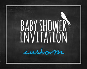 Custom Baby Shower Invitation - Printable, Digital