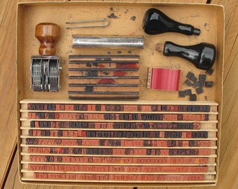 Justrite Office Outfit vintage customized or personalized rubber stamp making kit