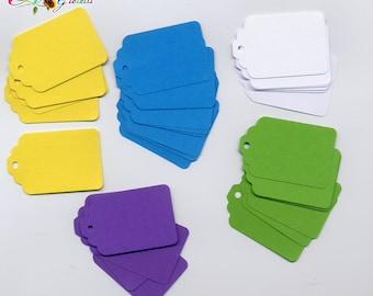 50 pezzi, Cartellini per creazioni , tag prezzi, multicolor, etichette, display jewelry, price tag