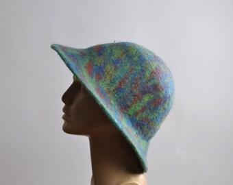 Nuno Felted Hat - Felted Hats - Merino Wool Felted Hat - Winter Hats - Women's Hats - Large Women's Hat