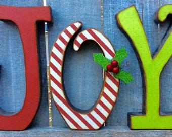 Christmas Decor Chunky Wood Antiqued JOY Letters, Wood Letters Christmas Joy, Christmas Wood Joy Letters, Woodcrafts