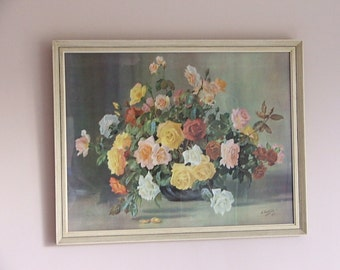 Vintage 'Bowl of Roses' by A.Nikolsky