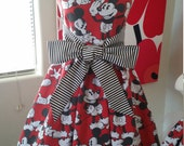 Custom Made to Order Disney Mickey Mouse party Dress Sz 6 to 20