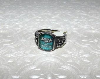 Philadelphia Eagles Inspired Stainless Steel Ring