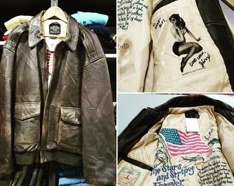 Avirex type A-2 Leather Flight Jacket