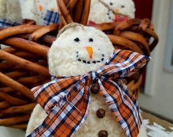 Recycled Wool Snowman