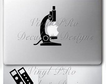 Microscope Magnification Slides Biology Biotech BioMajor Decal for Macbook Laptop