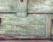 Green Typography Art, John Deere Decor, Rustic Photography Print, Country Wall Art, Illinois Farmhouse Decor   'Oh Deere'