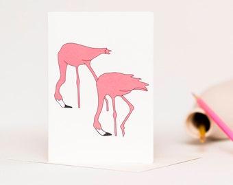 Pink Flamingos Card - Anniversary Card - Wedding Card - Engagement Card - Same Sex Wedding - Gay Wedding Card - Lesbian Wedding Card