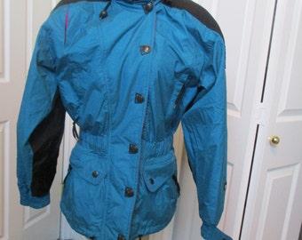 Vtg Marker Ski jacket, Snowboarding coat, winter coat, lined Parka Ski coat, Size 8 womens