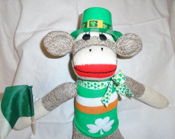 Lucky Irish Classic Red Heel Sock Monkey