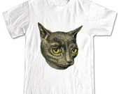 CAT with Yellow Eyes Kitten Animals T-shirt Women Men Children Small, Medium, Large, XL