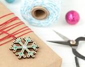 DIY Embroidery Kit // Mini Snowflake Ornament // Holiday Ornament Kit // Handmade Holiday