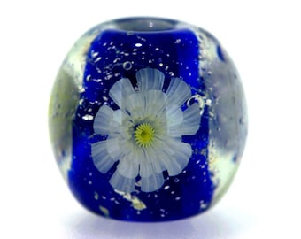 "Big handmade Lampwork Japanese Satake Glass Focal Bead ""Blooming"" A06 SRA Shirley"