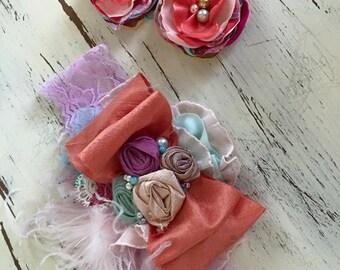 Baby Girl Headband-  Baby Headband- Matilda Jane Headband- Flower Girl Headband- TuTu Du Monde- Newborn Headband