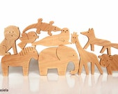 ANY 4 animals - Organic wooden toy - Animals from all over the world - Wooden animals - Educational toys for toddlers