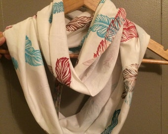 Spirit Feather Bamboo/Organic cotton infinity scarf