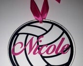 Personalized Acrylic volleyball keychain or ornament