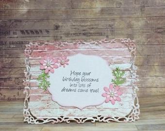 Birthday card, Handmade card, Greeting card, floral design