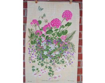 Vintage Floral Wall Hanging from Ireland