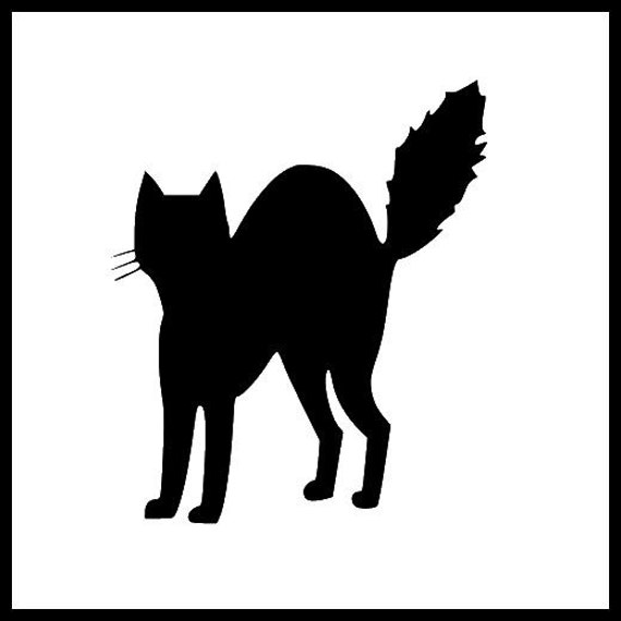 Halloween Scarey Black Cat Cutting File For Cricut And