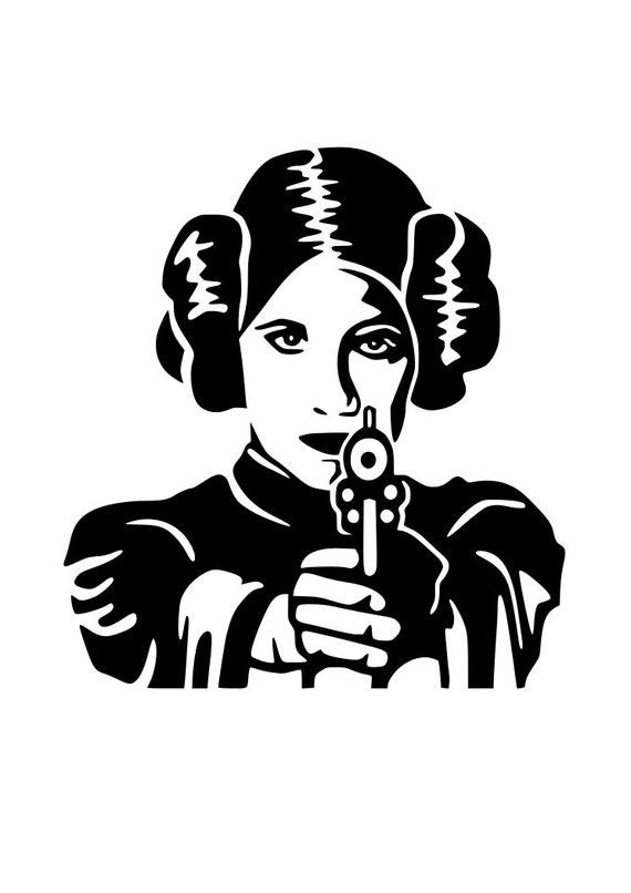 Star Wars Princess Leia Svg Cutting File Cricut Silhouette