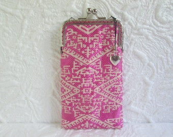 195A - iPhone 6 Case Fabric, iPod Touch Case, Cell Phone Case, Samsung Galaxy Case, eyeglass case, cover handmade