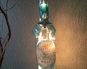 Wine Bottle Light, Ocean Theme, Sea Quote, Starfish, Recycled, Gift, Home Decor, Birthday Gift, Sunshine and Sea, The Sea, Nautical Decor.