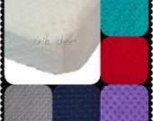 Crib Sheet Minky 19 colors Baby Minky Sheet Crib
