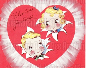 Vintage Valentine's Day Card To My Wife 1940s Original Sweet Nothing Love Greeting Heart Funny