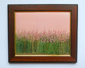 embroidery art fabric picture  wall hanging  textile embroidered painting
