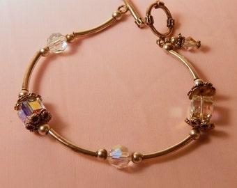 Swarovski Crystal Bracelet,Sterling, friendship,  Great Gift