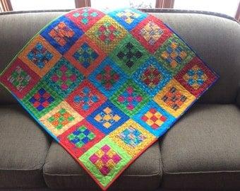 Bright Squares Baby Quilt