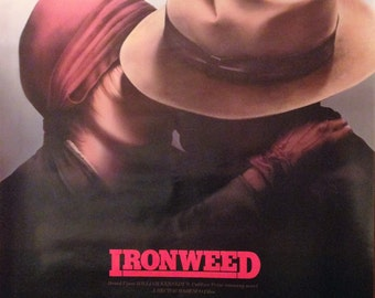 Movie Poster, Ironweed, 1987 with Meryl Streep.