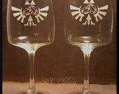 Legend Of Zelda Wedding Wine  Glass Set