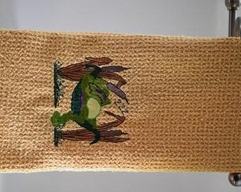Frog Microfiber Hand Towel